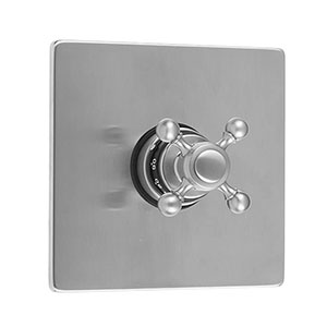 Jaclo T478-TRIM-PCH Square Plate With Ball Cross Trim For Thermostatic Valves - POLISHED CHROME